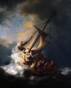 Рембранд Шторм на Галилейском море